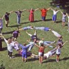 Gruppenübung mit der Spiralform